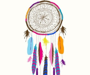 colors, drawing, and dreamcatcher image