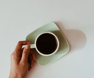 coffee, hand, and morning image