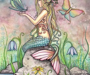 drawing, mermaid, and cute image