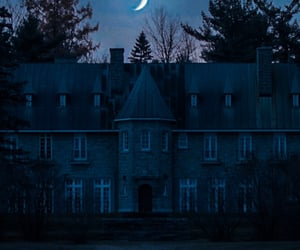 blue, blue night, and mansion image