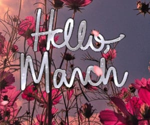march, word, and months image