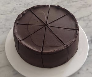 cake, chocolate, and food image