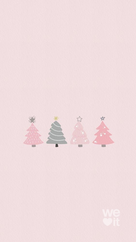 aesthetic, christmas tree, and pink image