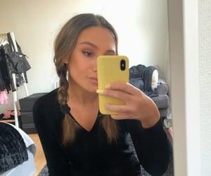 girl, make up, and brunette image