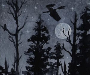 baba yaga, owl, and witch image