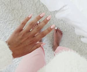 girls, pink, and nails polish image