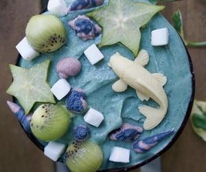 🌴tropical rainforest🌴 recipe: 4c frozen banana, 1c frozen mango, small chunk of ginger, 1/2c coconut yogurt, 1/2 blue spirulina (serves 3)