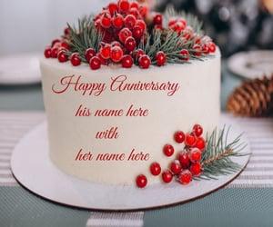 happy anniversary cake image