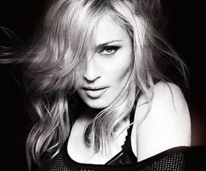 model, black&white, and madonna image