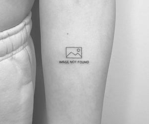 aesthetic, black and white, and tattoo ideas image