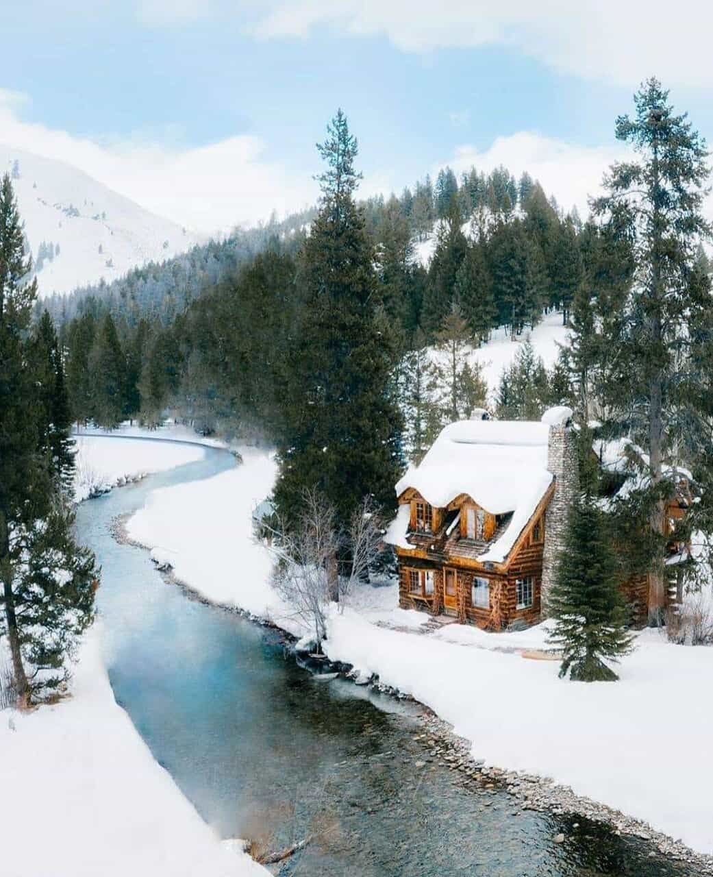 home, nature, and winter image