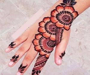 bride, tattoo, and henna design image