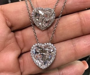 bling, heart, and jewelry image