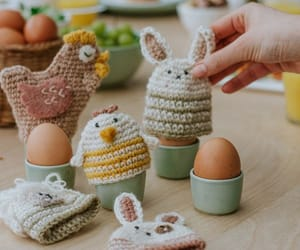 bunny, Chicken, and crochet image