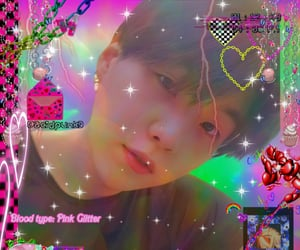 aesthetic, cyber, and glitter image