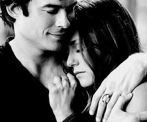 black and white, hug, and ian somerhalder image