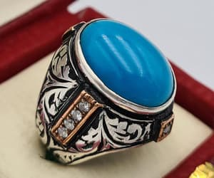 etsy, vintage rings, and turquoise stone image