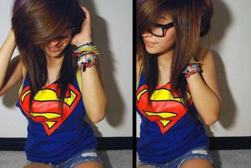 superman t,shirt cute hairstyle girl with swag ~ Swag Quotes