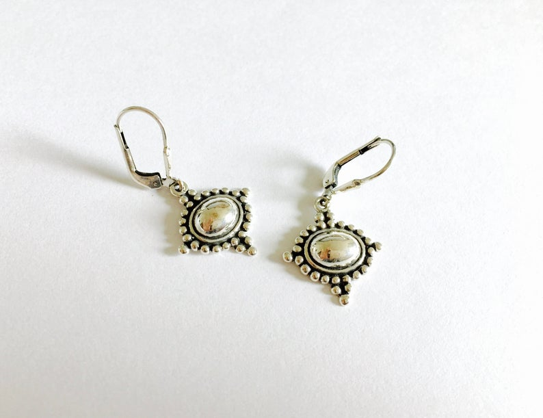 sterling silver, southwestern, and silver earrings image