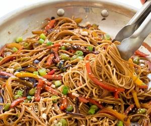 noodles, vegetables, and food image