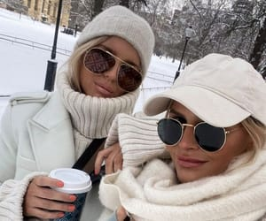 best friends, fashion, and sunglasses image