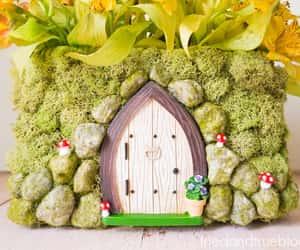 Fairies, spring, and fairy garden image
