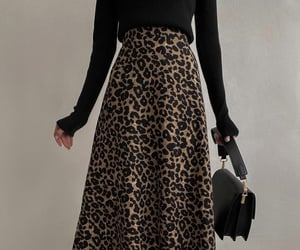 bag, girl, and leopard image