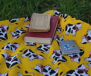 cow, picnic, and aestethic image