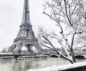eiffel tower, winter wonder, and eiffel image