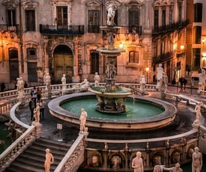 fountain, italy, and Palermo image