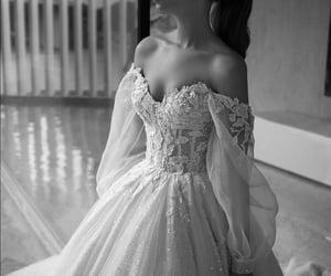 wedding, beautiful, and wedding dress image