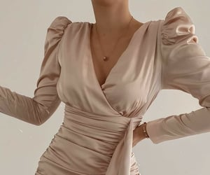 clothes, satin, and creme image