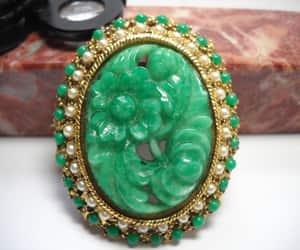 vintage brooch, brooch pendant, and peking glass pendant image