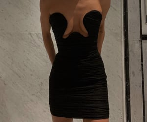 black, style, and dress image