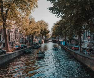 amsterdam, bicycles, and boats image