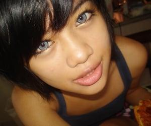 asian girls, lenses, and make up image