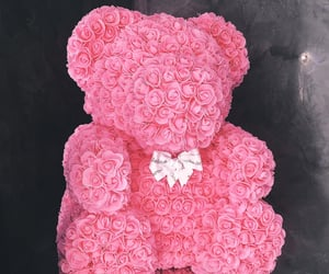 gift, roses, and bear image