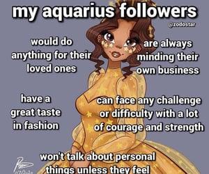 horoscope, sign, and aquarius image