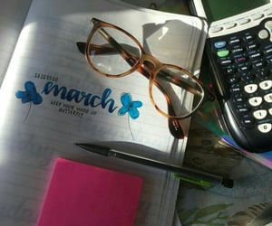 aesthetic, calculator, and glasses image