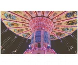 aesthetics, carousel, and fairylights image
