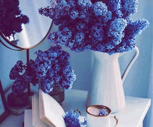 blue and white, pretty, and blue aesthetic image