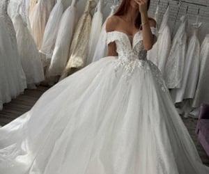 dress, wedding dresses, and wedding image