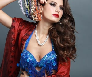 fashion, indian, and necklace image