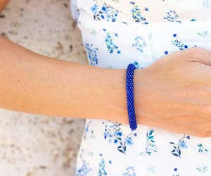 handmade, blue, and bracelet image