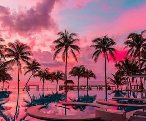 pink, wonderful, and vacation image