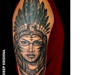 tattoo studio, feather, and tattoo image
