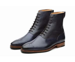 leather boots, navy boots, and boots for men image