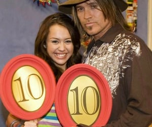 miley cyrus and billy ray cyrus image