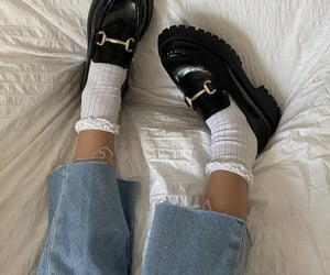 everyday look, black loafers, and fashionista fashionable image