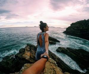beach, girlfriend, and love image